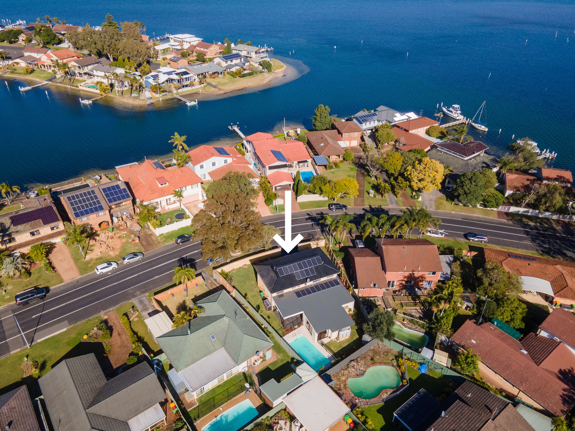 Providing professional aerial drone real estate photography on central coast of NSW australia
