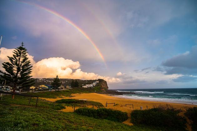 Rainbow over school formals Event Photographer Central Coast NSW