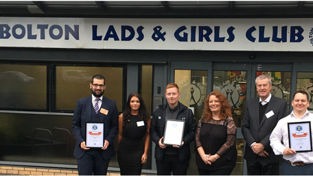 Domis Supports Bolton Lads & Girls Club