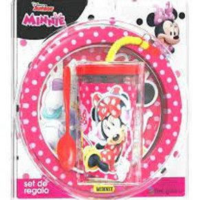 Set Minnie Mouse -Plato vaso y cuchara