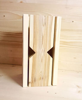 Lampes bois chablis artisanale jeux de lumiere