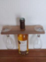 porte verre decoratif bois fait main
