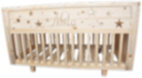 berceau evolutif personnalisé en pin