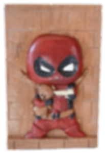 deadpool bois sculpté, fan art deadpool