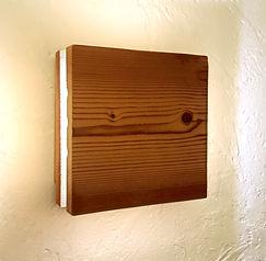 Lampe bois artisanale à LED