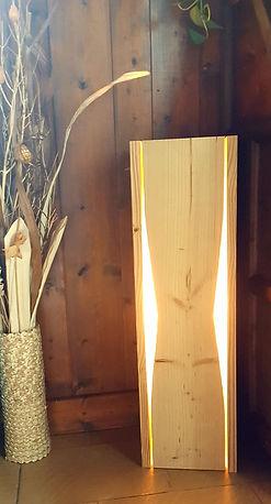 lampes bois chauffé uniques artisanat