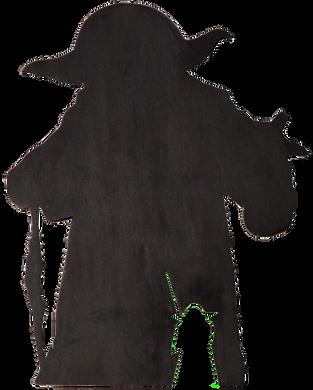 décoration murale bois phosphorescent yoda chantourné