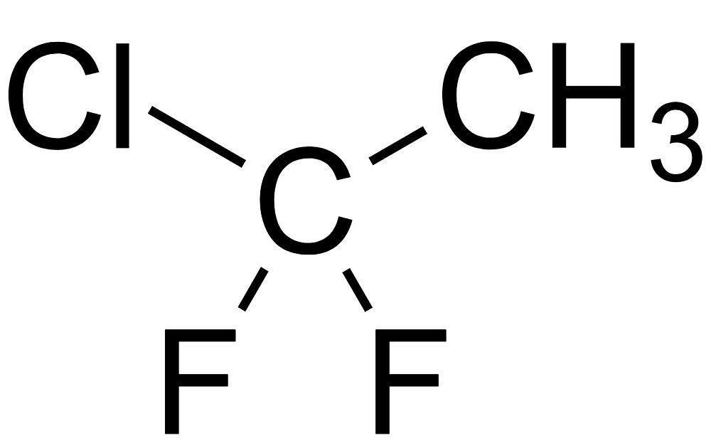 클로로디플루오르에테인, chlorodifluoroethane, 1-chloro-1, 1-difluoroethane, c2h3clf2, 클로로플루오르카본, chlorofluorocarbon, 할론, halon, 몬트리올 의정서, mfc