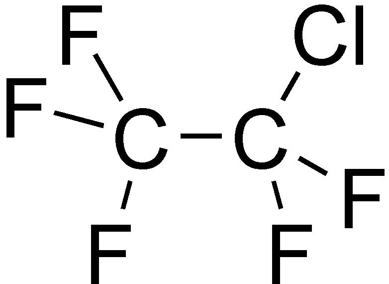 chlorofentafluoroethane, 클로로펜타플루오로에테인, c2clf5, 클로로플루오르카본, chlorofluorocarbon, 할론, halon, 몬트리올 의정서, mfc