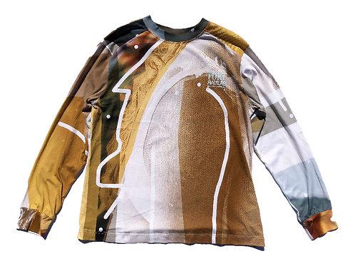 PORTRAIT Print Long sleeve T-shirt XL size