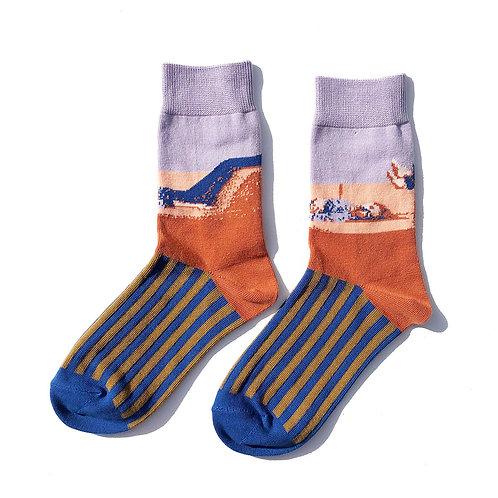 """""""Relax time"""" Socks (Lavendar)"""