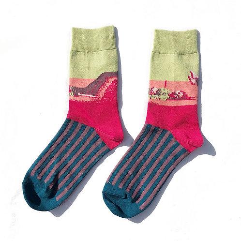 """Relax time"" Socks (Pistachio green)"