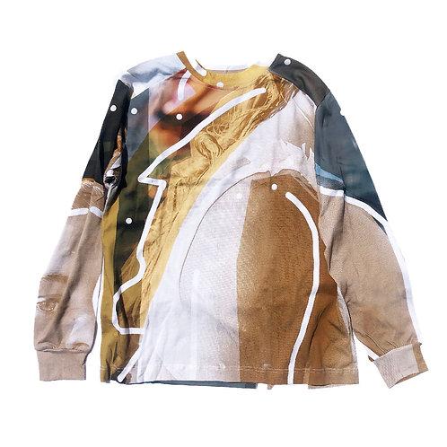 PORTRAIT Print Long sleeve T-shirt L size01