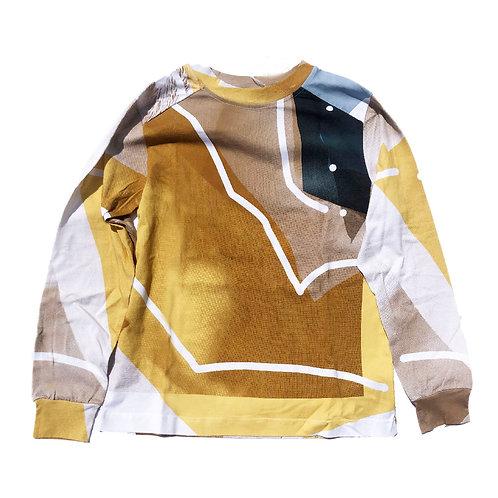 PORTRAIT Print Long sleeve T-shirt M size 01