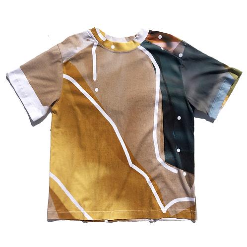 PORTRAIT Print  T-shirt L size01