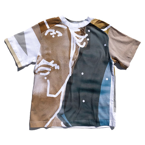 PORTRAIT Print   T-shirt M size 01