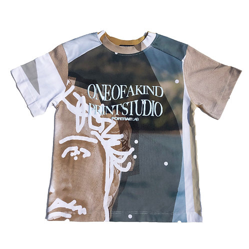 PORTRAIT Print   T-shirt M size PRINT04