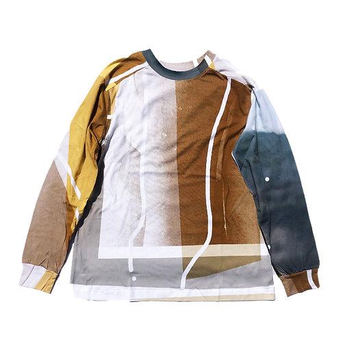 PORTRAIT Print Long sleeve T-shirt XL size 02
