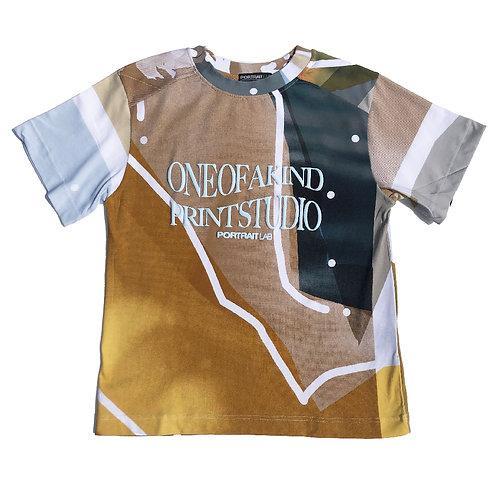 PORTRAIT Print   T-shirt M size PRINT06