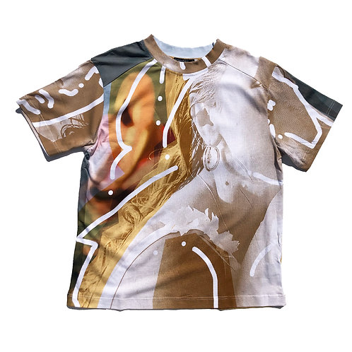 PORTRAIT Print  T-shirt XL size 01