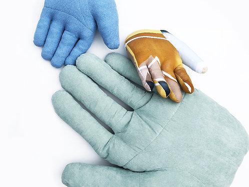 "Fabric object ""Hand"" XL size Mint green"