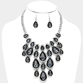 Charcoal Bib Neckl Set