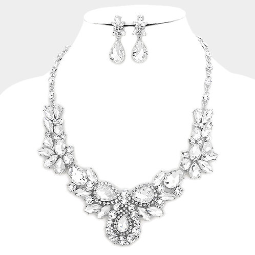 Marquis & Crystal Necklace Set