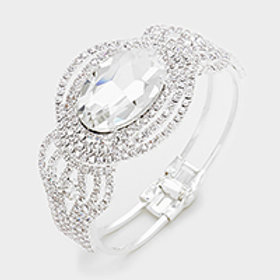 OVAL CRYSTAL EVENING BRACELET