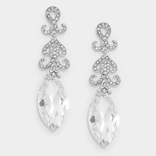 Crystal Marquis Tear Drop Earrings