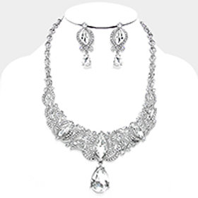 Crystal Drop Neckl Set