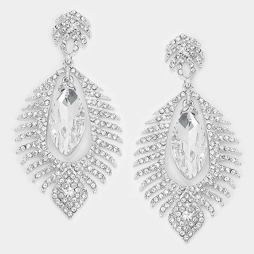 Large Marquis Crystal Earrings