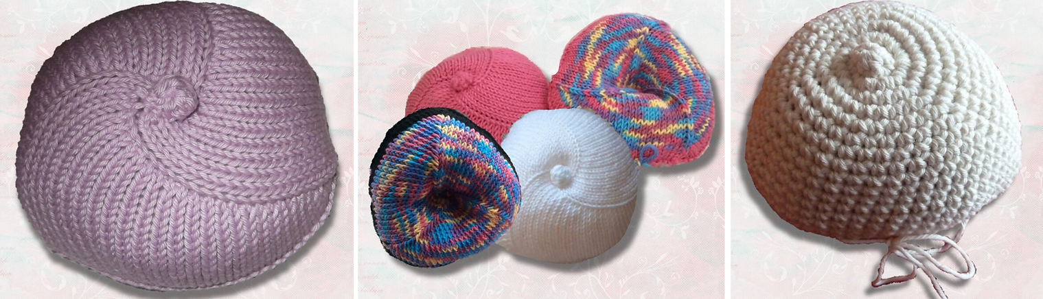 Breast prosthesis knitted knockers uk knitted knockers are a uk charity that knit and crochet breast prostheses for women that have undergone a mastectomy or lumpectomy ccuart Images