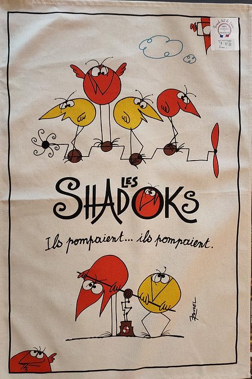 "Torchon thème ""Shadoks"""