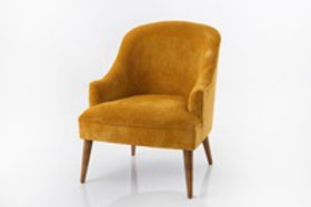 Fauteuil velour moutarde mike