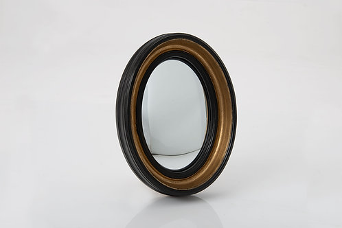Miroir sorciere noir ovale
