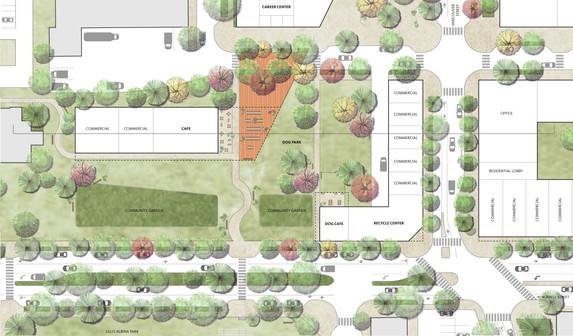 Cafe & Garden Plan