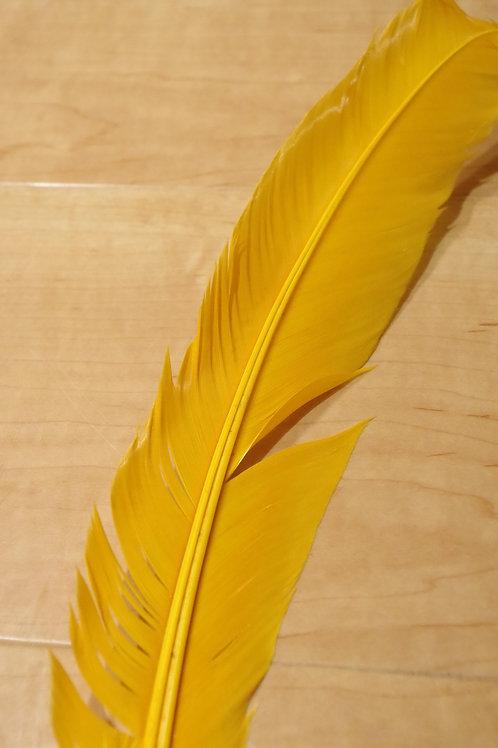 羽根 黄色(30cm)28本セット