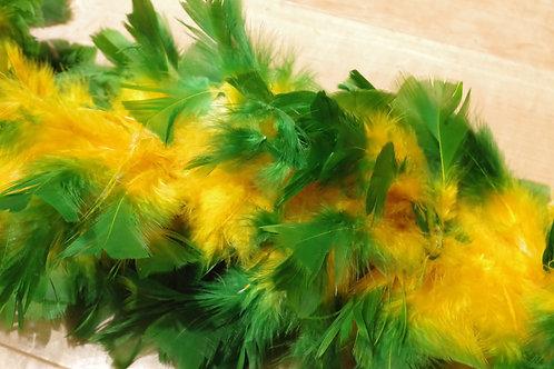 羽根 緑×黄色モール小