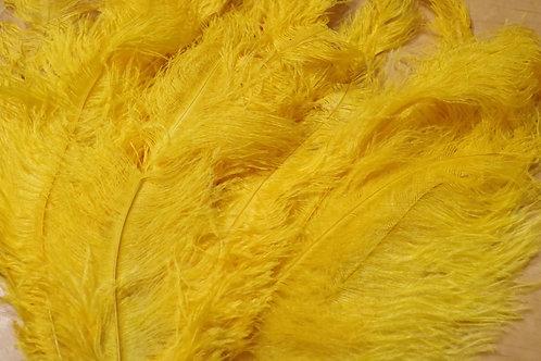 羽根 黄色オーストリッチ(50cm)