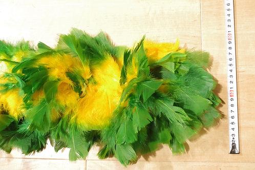 羽根 緑×黄色モール大