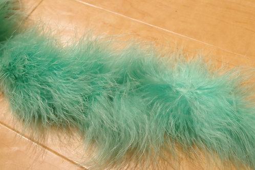 羽根 薄青緑モール
