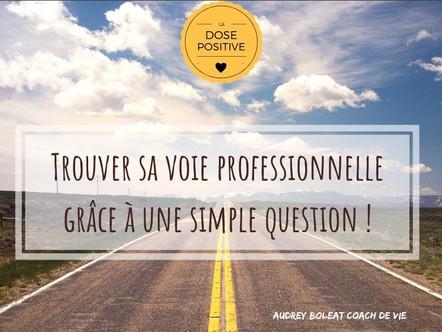 Trouver sa voie professionnelle grâce à une simple question !