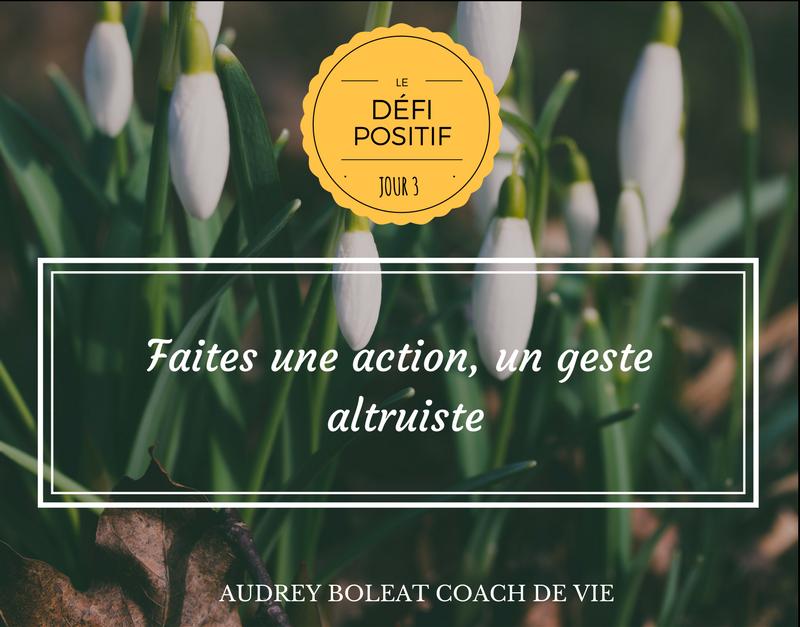 Défi positif L'altruisme