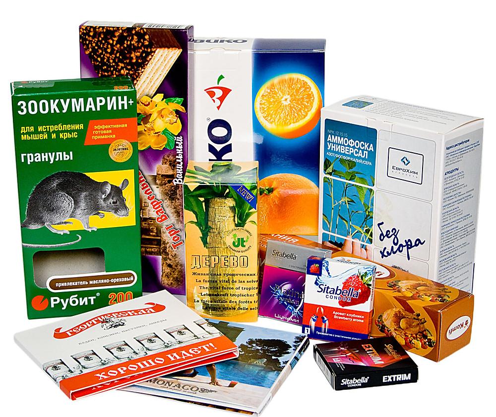 Производство картонных коробок и упаковки с печатью логотипа