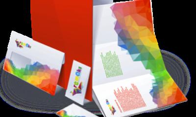 Печать буклетов с логотипом