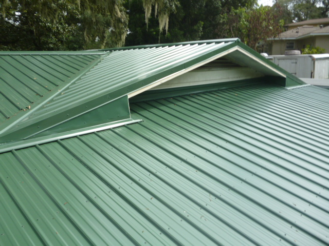 new hunter green color metal roof in mt dora florida lake county