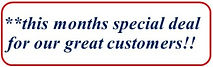 special offer for our customers