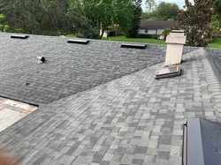 new shingle roof with vents