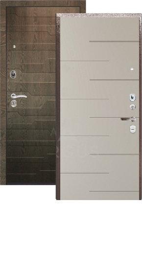 Сейф-дверь ARGUS ДА-24 (2П) Никсон силк макадамия/МДФ Корто коньяк