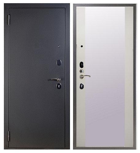 Дверь Sidoorov S 80 серебро Плаза/Белый снег софт